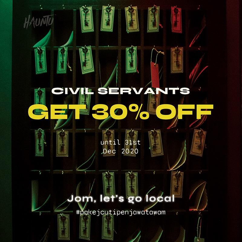 Hauntu - Civil Servant 30% Off-#pakejcutipenjawatawam