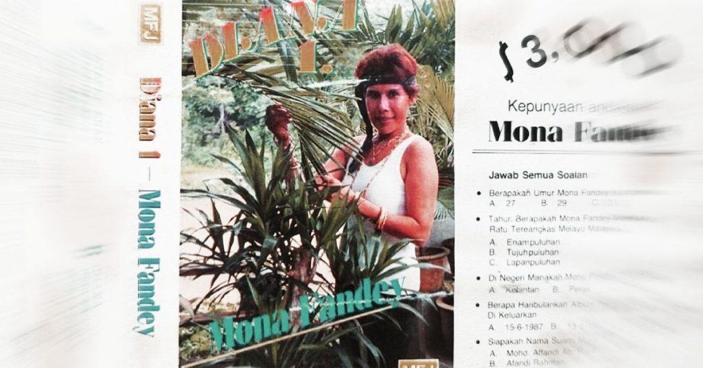 Mona Fandey album cover at white top