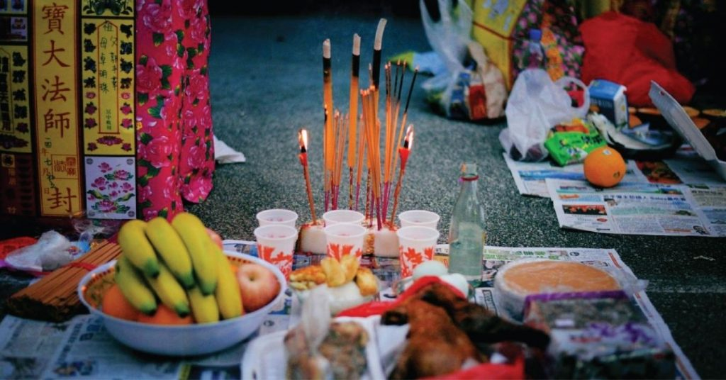 Hungry Ghost festival ritual