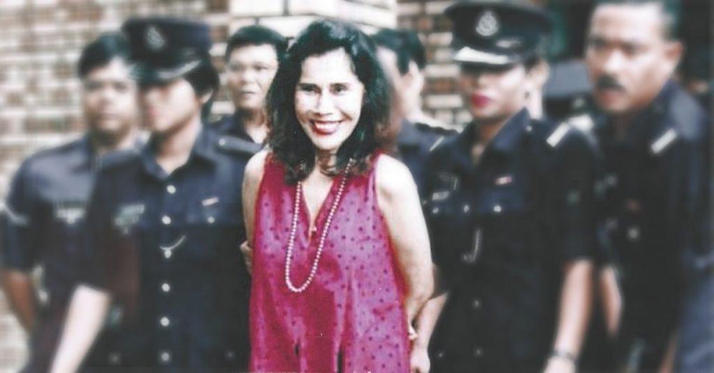 Mona Fandey smilling while got arrest
